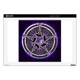 Pentacle Of The Purple Moon Laptop Decal
