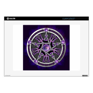 "Pentacle Of The Purple Moon Decals For 15"" Laptops"