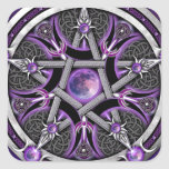Pentacle Of The Purple Moon Square Sticker