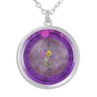 PENTACLE OF VENUS TALISMAN SILVER PLATED NECKLACE