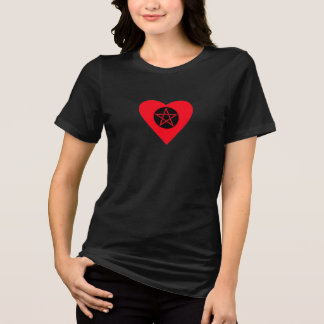Pentacle Pagan Heart Plus Size Tee 4 Curvy Witches