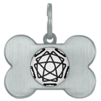Pentacle Pentagram Design Pet ID Tag