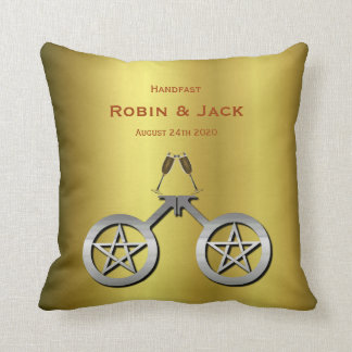 Pentacle Pillow Handfasting Gift for Gay Wiccans