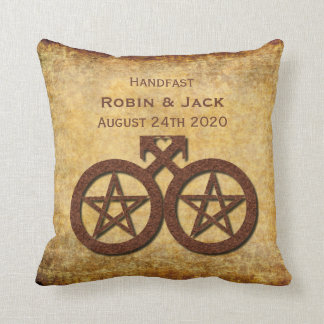 Pentacle Pillow Handfasting Gift for Wiccan Rustic