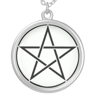 Pentacle Round Pendant Necklace