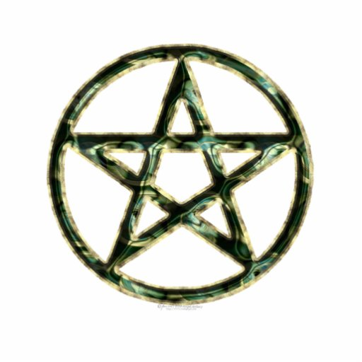 Pentacle Sculpted Acrylic Products Photo Sculpture Button