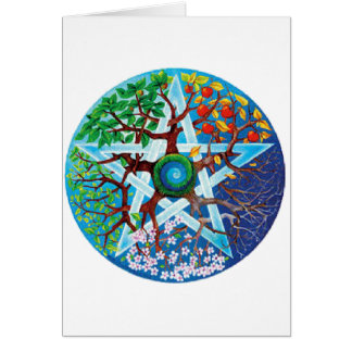 pentacle-seasons greeting card