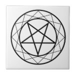 Pentacle Small Square Tile