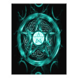 Pentacle Teal Blue Personalized Letterhead