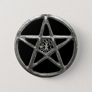 Pentacle Tree Of Life Button