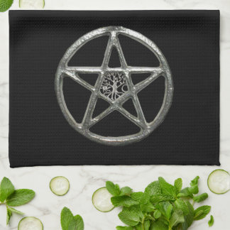 Pentacle Tree Of Life Kitchen Towel