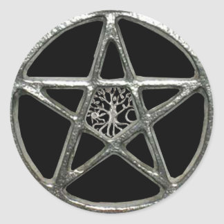 Pentacle Tree Of Life Stickers