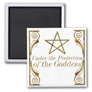 Pentacle Under the Protection of the Goddess Magnet