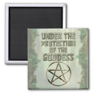Pentacle, Under the Protection of the Goddess, Woo Refrigerator Magnets