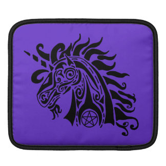 Pentacle Unicorn (black) iPad Sleeve