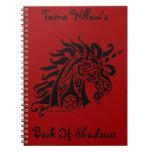 Pentacle Unicorn (black) Notebook