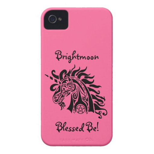 Pentacle Unicorn (blck) iPhone 4 Barely There Case