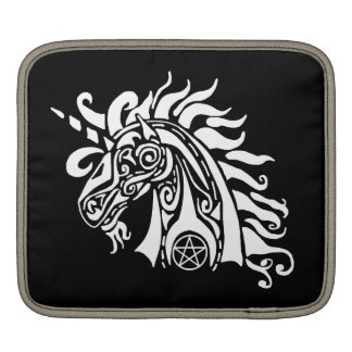 Pentacle Unicorn (white) iPad  Sleeve