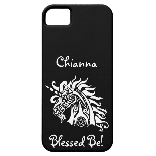 Pentacle Unicorn (white) iPhone 5 Case