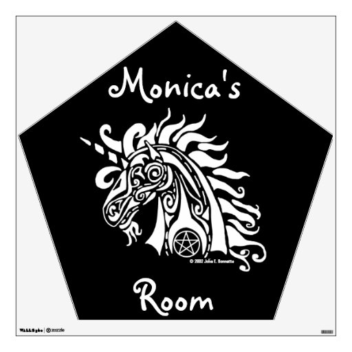 Pentacle Unicorn (white) Wall Decal