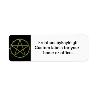 Pentacle with Leaves Return Address Labels