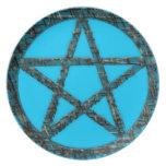 Pentacles: Aqua and Threads Melamine Plate
