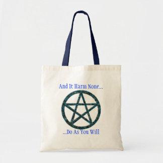 Pentacles: Blue Tote Bag