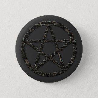 Pentacles: Dark Gray Button