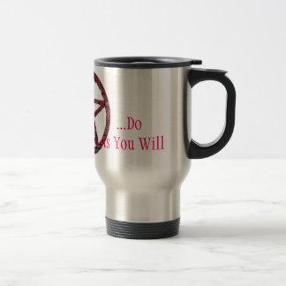 Pentacles: Pink Travel Mug