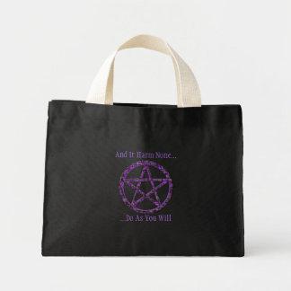 Pentacles: Violet Mini Tote Bag