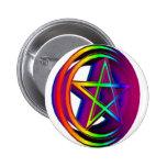 Pentáculo #5 del arco iris pins