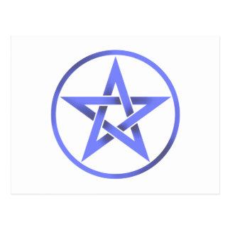 Pentáculo azul del Pentagram Postales