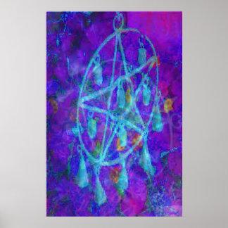 Pentáculo azul Royale por JudyMarisa Impresiones