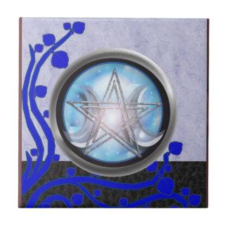 pentáculo de la diosa azulejo cuadrado pequeño