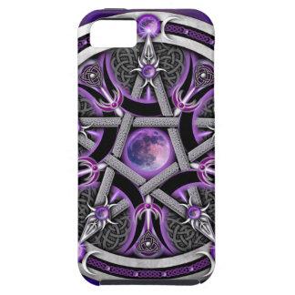 Pentáculo de la luna púrpura iPhone 5 carcasa