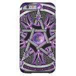 Pentáculo de la luna púrpura funda de iPhone 6 tough