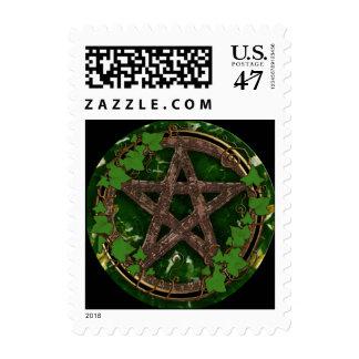 pentáculo de la tierra sello postal