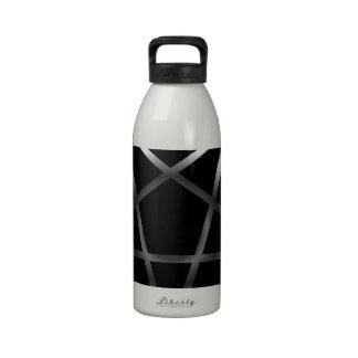 Pentáculo de plata botella de agua reutilizable