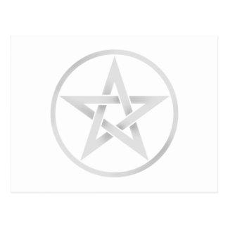 Pentáculo de plata del Pentagram Postales