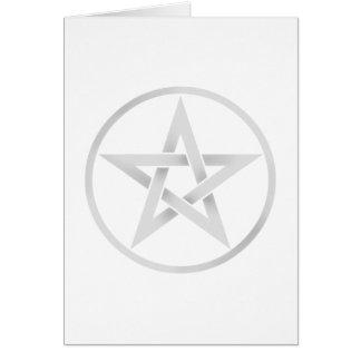 Pentáculo de plata del Pentagram Tarjeta De Felicitación