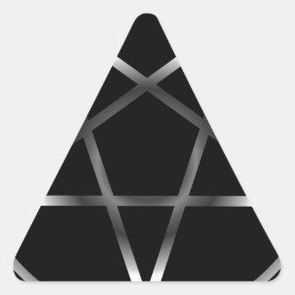 Pentáculo de plata calcomanías trianguladas personalizadas