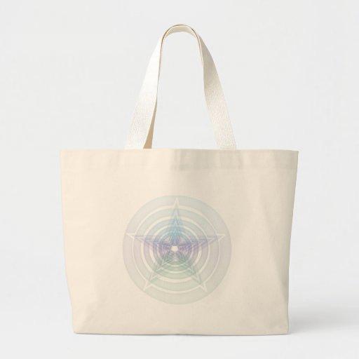 Pentáculo del arco iris bolsa tela grande