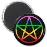 Pentáculo del arco iris imanes