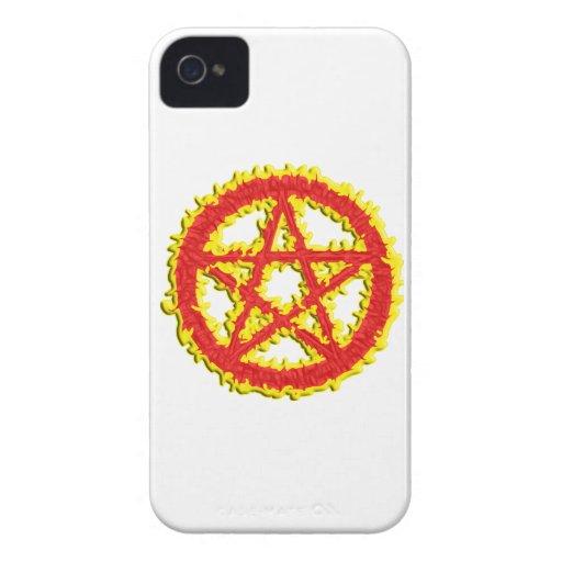Pentáculo del fuego iPhone 4 Case-Mate fundas