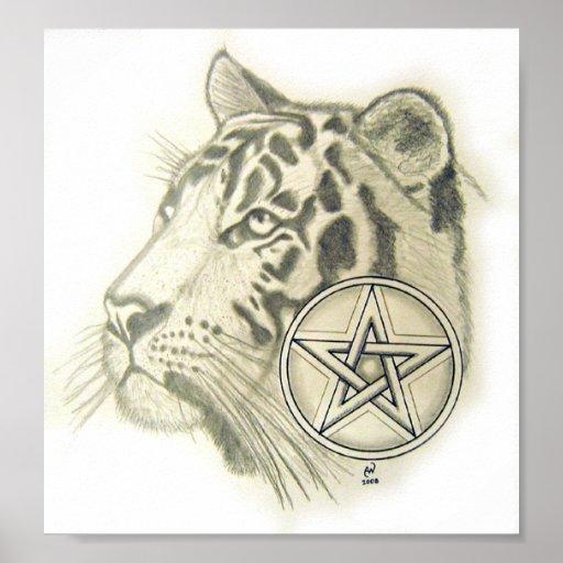 Pentáculo del tigre póster