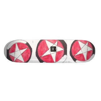 Pentáculo del vintage skate board