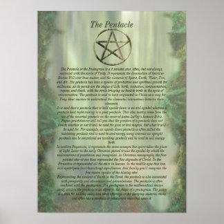 Pentáculo en el poster de madera del Info