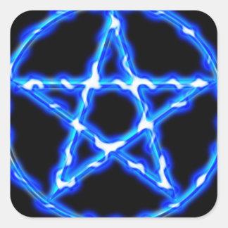 Pentáculo etéreo pegatina cuadrada