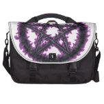 Pentáculo negro y púrpura bolsas de portatil