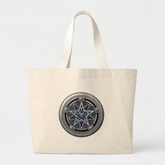 Pentáculo pagano de plata femenino bolsa de mano